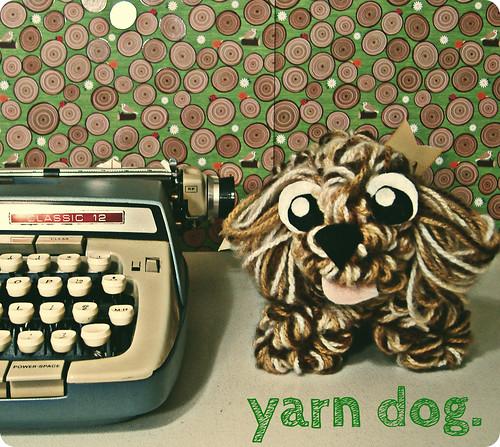 yarn dog.
