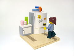 Leftovers (nolnet) Tags: kitchen fridge lego decay meat leftovers minifig rotten vignette