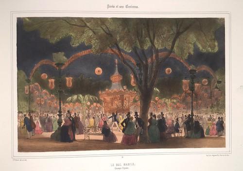 019- Paris- El baile Mabile en los Campos Eliseos 1858