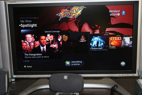 Inauguration on Xbox Live