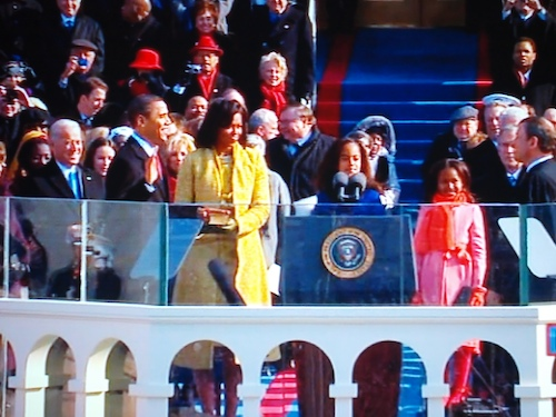 Presidential Oath while Family Looks On by bo mackison.