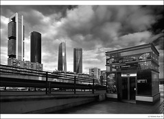 Four Towers Business Area CTBA from Chamartin Station En Directo! (B'Rob) Tags: madrid city travel light espaa cloud streetart art tourism station architecture subway four cuatro photography lights photo yahoo google spain arquitectura nikon flickr paradise metro five edificio towers picture ciudad tourist best business explore most cielo kyo area nikkor paraiso 1224mm repsol torres mejor espacio undergroung trin d300 ctba cajamadrid chamartin brob explored gettyimagesspainq1 brobphoto