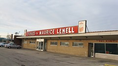 The old Maurice Lenell cookie factory and store. ( Closed.) Norridge Illinois. January 2nd, 2009<br />.