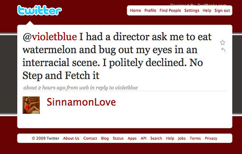 Sinnamon Love comments on my column