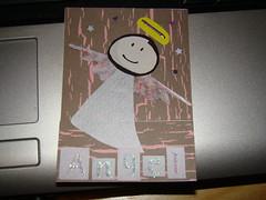 Angel ATC (Tinkergirl) Tags: atc angel papercraft