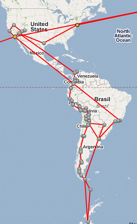 Path in the Americas