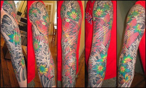 My Desk at iMarc · Koi Tattoo 3/4 Sleeve