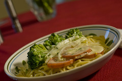 Fettuchini Alfredo with Vegetables