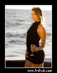 Rebecca (Rock Portrait Photography) Tags: sunset portrait beach glass model glamour champagne au australia victoria elwood bec