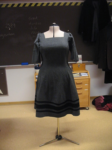 gray wool dress