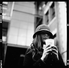 N.Warren (The-Wu) Tags: bw white black hot 6x6 tlr film girl hat rollei rolleiflex square lens reflex san francisco kodak chocolate ken twin explore 400 medium format natalie 28 wu ghirardelli 28f 400tmy explored 400tmy2