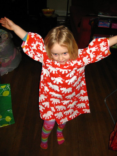 Iz and the Red Hippo Dress