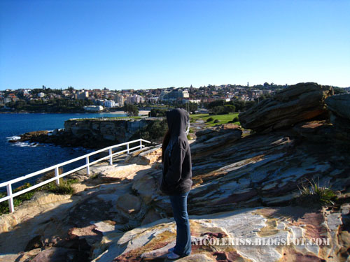 standing on bondi cliff