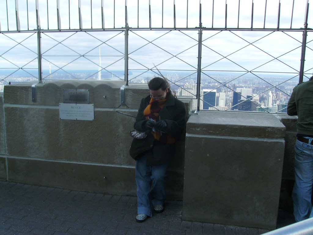 Knitting on the Empire State Building