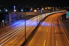 Nightshots - Highway Vienna A23 (Andreas Polster Photography) Tags: vienna wien longexposure bridge lights austria nikon highway europe long exposure traffic autobahn verkehr a23 2470mm28 d700