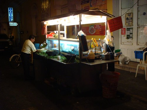 Evening taco vendor, Veracruz, Mexico.