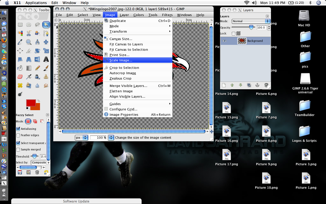 how to show image pixel sizes in all folders