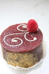 Say It With Flour - raspberry chocolate ganache cake