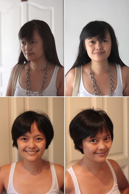 new haircut - before and after