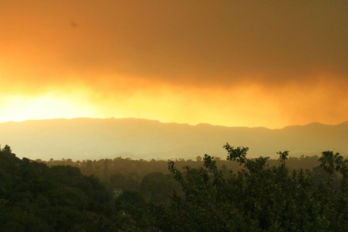 Smokey Sunset over Santa Barbara