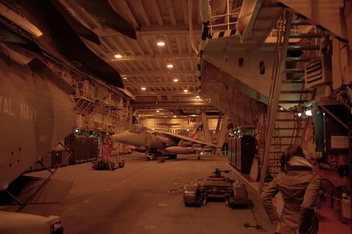 Inside the aircraft hanger