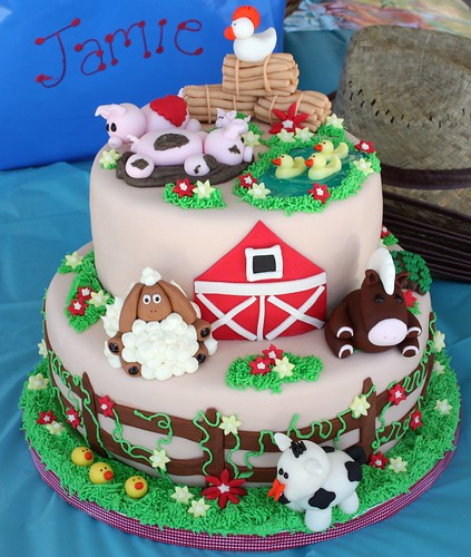 Farm Animal birthday cake #(2)