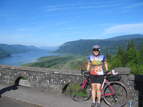 Me, Little Pink Bear, Little Pink Bike, and the Columbia Gorge