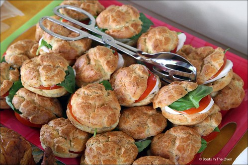 Caprese Gougeres from Everyday Foodie