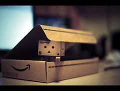 Danbo arrives! (edmundlwk) Tags: canon japanese robot amazon box f14 mini cardboard jp figurine danbo amazoncojp sigma30mm 450d danboard rebelxsi edmundlim