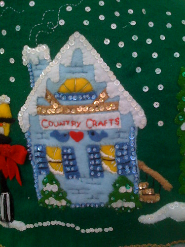 'Country Crafts' - Christmas Village Tree Skirt.