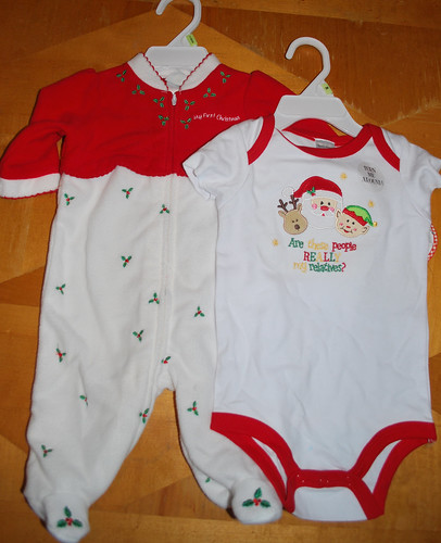 christmas onesie and sleeper