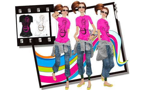 <p>FILTERで1L$Tシャツをget!! 3色展開で全レイヤー入ってて有難いデス。BeniサンのBlogをみてWot?に行って来ました。このシューズテクスチェンジ出来とってもお買い得でしたよッ! もう1つのボーダーのやつも非常にcuteすぎました:)</p>