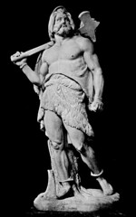 Thor by B. E. Fogelberg (Thorskegga) Tags: old art statue hammer illustration book carved god thor viking mythology thunder myth scandinavian pagan norse germanic heathen teutonic thors asatru heathenry