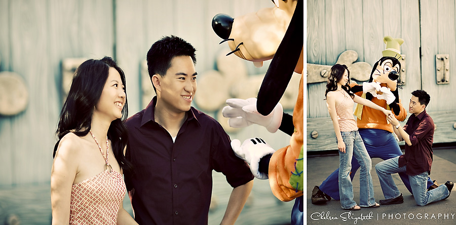 Vintage toontown goofy engagement proposal Disneyland