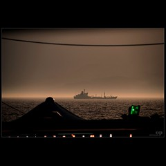 Crossing The Messina Strait (Osvaldo_Zoom) Tags: night ship crossing sicily calabria strait magister messinastrait lungomarefalcomat scyllaandcharybdis