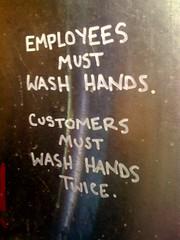as seen in the Gowanus Yacht Club bathroom