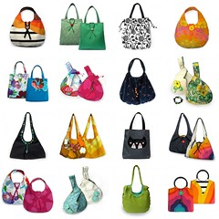 My Handmade Bags Retrospective (weggart) Tags: original beads handmade unique polymerclay bags totebag shoulderbag grabbag clothbag handmadebuttons weggart