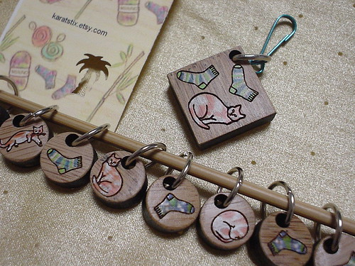 Stitch Markers and Tag
