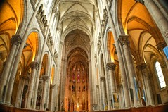 Nantes Church (Werner Kunz) Tags: world trip travel vacation holiday paris france church yellow photoshop bench lens nikon frankreich europa europe european cathedral euro dom urlaub religion gothic eu architectural explore winner getty column 40 ultrawide dri hdr nantes hdri werner reise 9mm gettyimage kunz d90 photomatix photomatic trentemoult rez 20fav explored colorefex abigfave platinumphoto anawesomeshot nikond90 theperfectphotographer thebestofday topazadjust updatecollection werkunz1