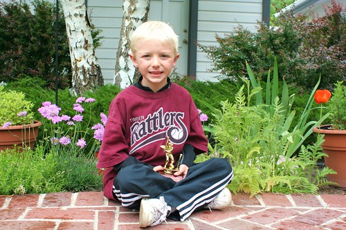 Sammy and his T-Ball Trophy