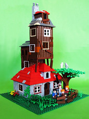The Burrow (_Matn) Tags: brown tree lego magic harrypotter greenery weasleys owls ronweasley hermoinegranger theburrow foitsop hetnest