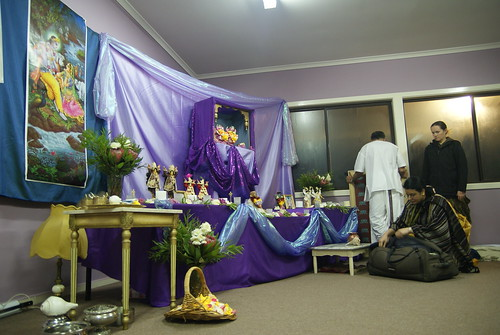 The altar set-up
