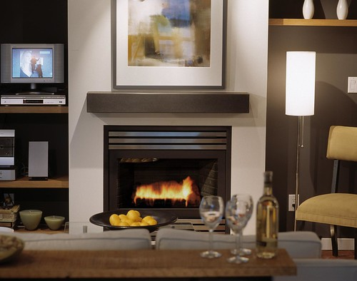 Judd Cinder Cast Concrete Fireplace Mantel, Photo by Raef Grohne ...