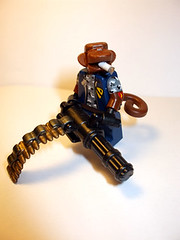 Going Ape (JasBrick) Tags: monkey lego zombie custom minigun minfig brickarms