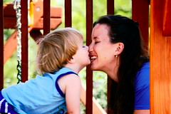 A Mother's Kiss (Keith Lovelady's Photography) Tags: kiss mother son mothers iloveyou photosmiles amotherslove amotherskiss