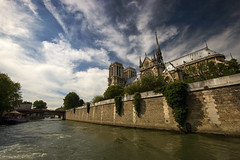 Notre Dame Cathedral from the Seine (James_at_Slack) Tags: paris france history seine river cathedral culture riverseine notredamecatherdral