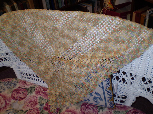 Crocheted Cotton Shawl