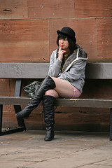 Bowler hat (foto.pro) Tags: girl boots smoking bowlerhat