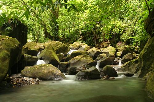 small falls downstream from Sari Sari