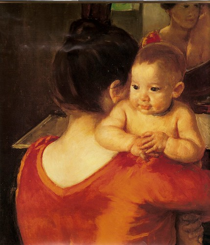 Baby Charles Looking Over His Mother's Shoulder
